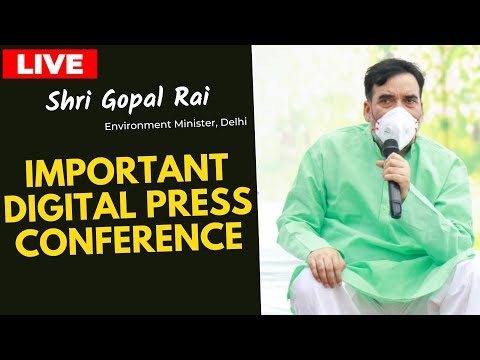 Hon'ble Environment Minister Sh. Gopal Rai addressing an Important Press Conference