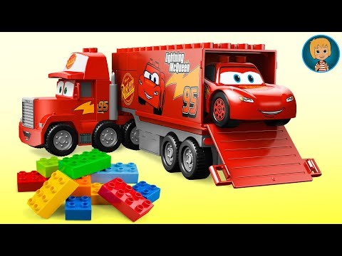 MegaBloks Mack - Lightning McQueen Cars 3 With Lego 7769 (Gertit ToysReview)