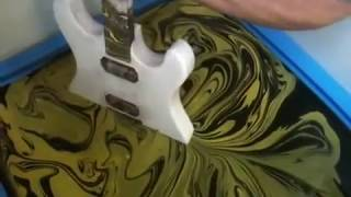 SWIRLING(Yellow & Black Custom Guitar)