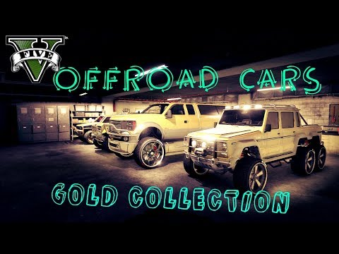 GTA 5 Luxury Gold Offroad Car Collection ( Exclusive And Exotic Offroad Car Collection For Offline )