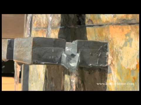 Video for Watercross Floor Fountain - Natural Slate Finish