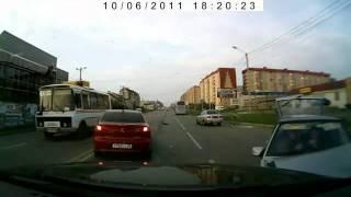 авария на видеорегистратор (ваз выбросило на встречку)