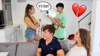 BREAKING UP WITH MY BOYFRIEND IN FRONT OF JACK AND GAB