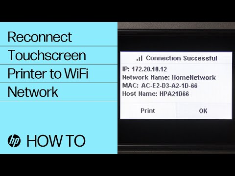 Reconnecting a Touchscreen Printer to a Wireless Network