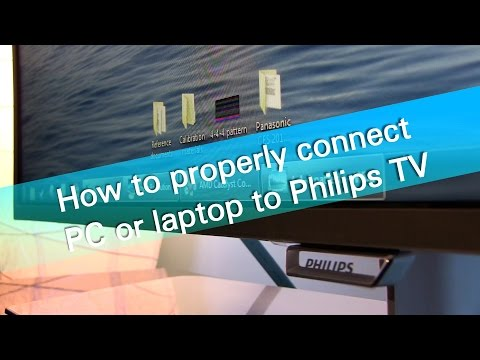 How to properly connect PC or laptop to Philips PFT6550 TV