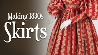 #SewingIsHard -- Making Your Own 1830s Skirts