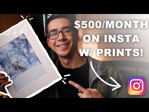 How I Made $500 on Instagram Selling Photography Prints (2020)