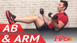 15 Min Shredding Ab and Arm Workout - Abs and Arms Workout - Ab Exercises & Arm Exercises by HASfit