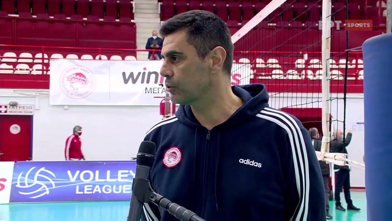 Volley League | Δ.Καζάζης: Είμαστε Ολυμπιακός και στόχος είναι η νίκη | 06/04/2021 | ΕΡΤ