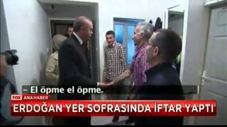 Erdoğan Yer sofrasında iftar açtı.(Yer Yok Bir çocuk Sofraya Oturamadı)