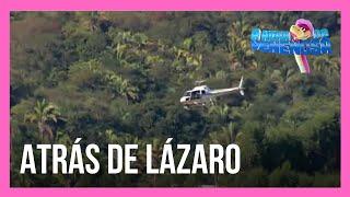 Helicópteros da polícia sobrevoam mata atrás de Lázaro Barbosa