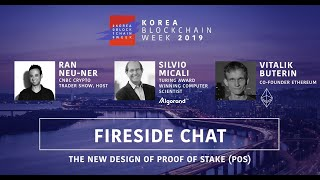 [Fireside Chat]The new design of proof of stake(PoS) #KBW2019 #vitalikbuterin #silviomicali