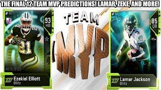 THE FINAL 12 TEAM MVP PREDICTIONS! TEAM MVP PREDICTIONS! | MADDEN 19 ULTIMATE TEAM