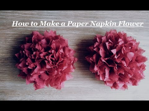 How to make a paper napkin flower hqdefaultg mightylinksfo