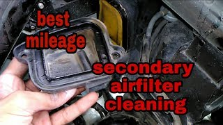 For best mileage clean secondary airfilter | honda aviator