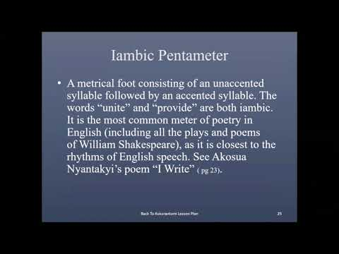 Iambic Pentameter is said to mimic the natural pattern of English speech. It is also one of my favorite meters in poetry.