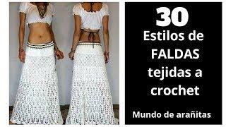 30 Estilos De ❤️FALDAS TEJIDAS ❤️a Crochet | Crochet Skirts