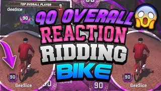 NBA 2K18 RIDING A BIKE! 90 OVERALL REACTION!HIGH REP TAKEOVER!