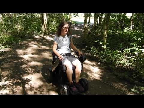 TGA WHILL Model C Powerchair user video: Claire with MS YouTube video thumbnail