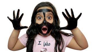 شفا وجهي و يدي سوداء !  ! my face and my hands are black