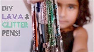 DIY Lava & Glitter Pens