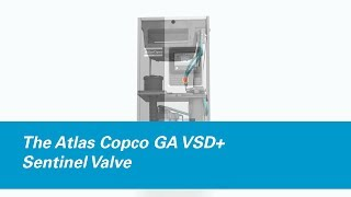 Animatie luchtinlaatsysteem GA VSD+ compressor Atlas Copco Compressor Technique