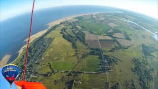 Перелёт на воздушных шарах через озеро Ильмень 15.08.15