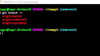 How to view all remote branch names in git