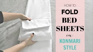 Marie Kondo How To Fold Fitted Sheets *EASY!*