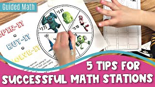 Guided Math | 5 Tips For Successful Math Stations