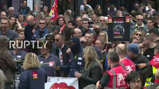 LIVE: Unions protest against Macron's planned labour and tax reforms in Paris