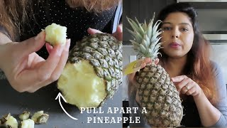 🍍How to Pull Apart a PINEAPPLE | Pineapple Trick | Is this how we suppose to eat pineapple?