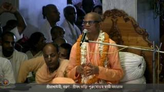 2016 Radhastami Day Morning Class Given By Bhakti Purusottama Swami In Bengali.