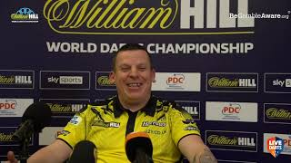 """Dave Chisnall on win over Noppert: """"First two sets, I thought the wife was playing, it wasn't me!"""""""