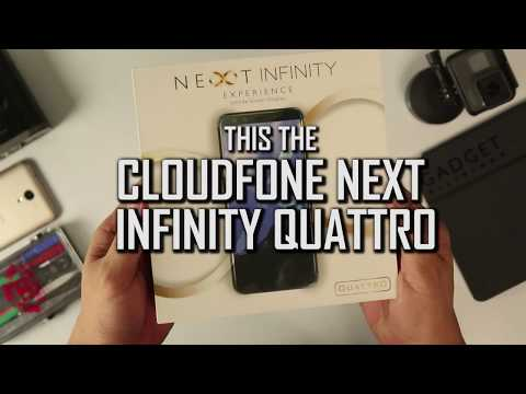 Cloudfone Next Infinity Quattro Unboxing and Hands-on