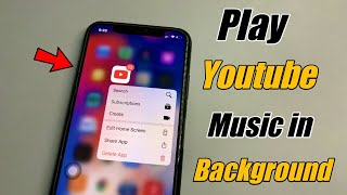 How to play Youtube Music in background in iPhone🔥🔥iOS 14 - 13 (Screen Off + While Using other Apps)
