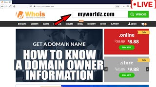 [🔴LIVE] How to check Domain owner's contact details from Whois database?