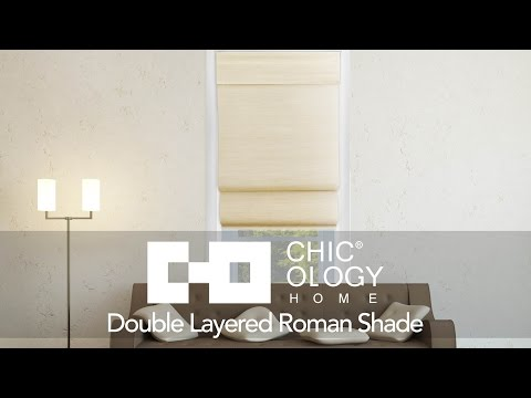 Video for Cordless Sandstone 36 x 64 In. Double Layered Roman Shade
