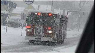 Video Clip of Fire Truck & Ambulance Responding To Accidents