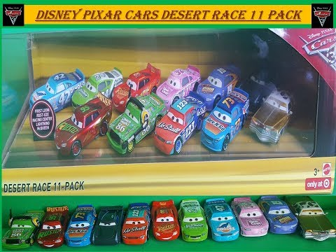 Disney Pixar Cars 3 Desert Race 11 Pack By Mattel Die Cast Cars Unboxing And Review.