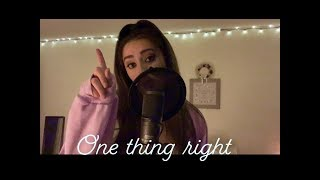 Marshmello X Kane Brown   One Thing Right (Cover)