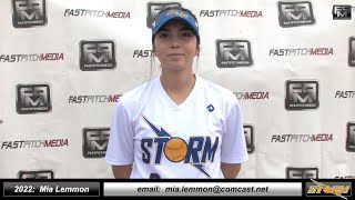 2022 Mia Lemmon 4.14 GPA, Athletic Shortstop and Outfielder Softball Skills Video - Salinas Storm