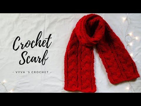 Crochet Scarf| Hướng dẫn móc khăn choàng vặn thừng xoắn ba| Vyvascrochet