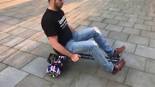 Ховеркарт - тележка для гироскутера с амортизатором.