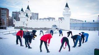 В Курчатове 2019-й начали с новогодней пробежки