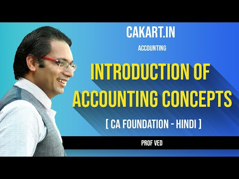 Introduction of Accounting Concepts, CA Foundation by Prof Ved
