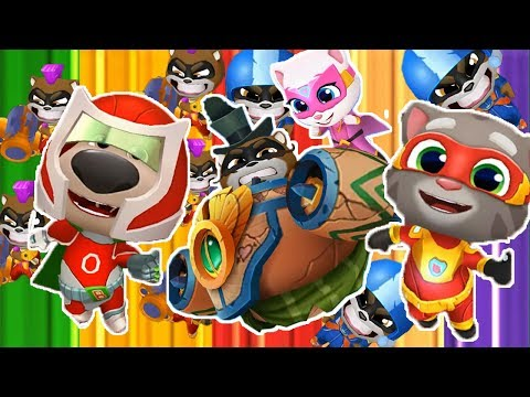 Talking Tom Hero Dash - All additional missions - Golden boss - New Update - Gameplay