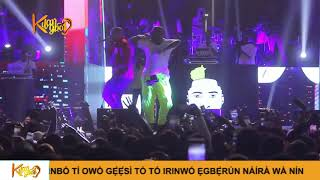 Davido Brings Out Zlatan, Lil Kesh , Perform Able God {Nigerian Entertainment}