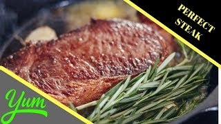 How to Cook a Ribeye Steak in a Cast Iron EASY PAN SEARED Perfect Steak