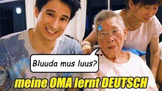 """Meine 90-Jährige OMA lernt DEUTSCH (""""Bruder muss los"""" und viele andere essenzielle Jugendwörter lol)"""